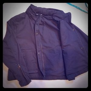 Athleta utility jacket w/hood, gray. Like new.
